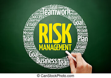 Risk Management plan word cloud