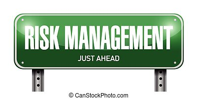 risk management street sign