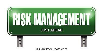 risk management street sign