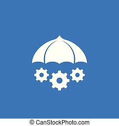 Risk management vector icon