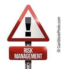 risk management warning sign illustration design over a...