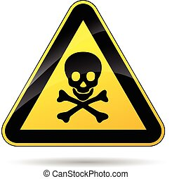 illustration of risk of dead triangle yellow sign