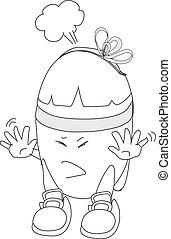 Risk of electric shock cartoon ima
