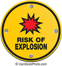 risk of explosion - round sign