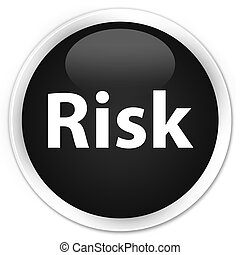 Risk premium black round button