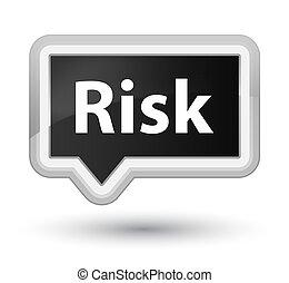 Risk prime black banner button