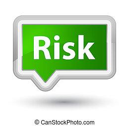 Risk prime green banner button