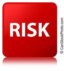 Risk red square button