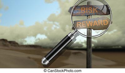 risk - reward - sign direction risk - rewards made in 3d...