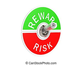 Risk reward toggle switch - Hi-res original 3d rendered...