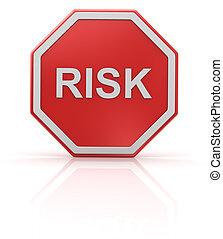 Risk road sign