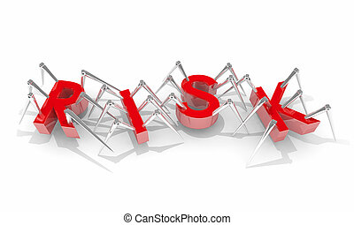Risk Security Safety Danger Warning Bugs Spiders 3d Illustration