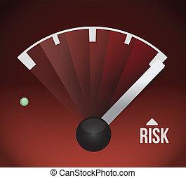 risk speedometer illustration design graphic