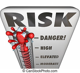 Risk Thermometer Measure Danger Liability