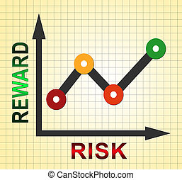 Risk Vs Reward Strategy Graph Depicts The Hazards In Obtaining Success - 3d Illustration