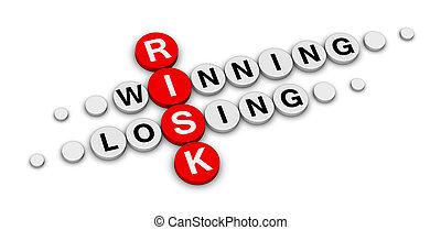 risk win or lose crossword