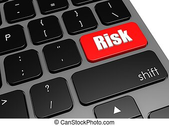 Risk with black keyboard