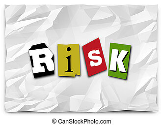 Risk Word Cut Out Letters Ransom Note Warning Security...