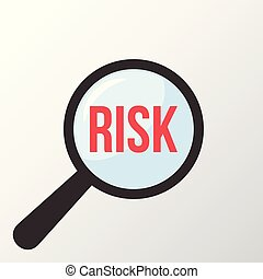 Risk Word Magnifying Glass