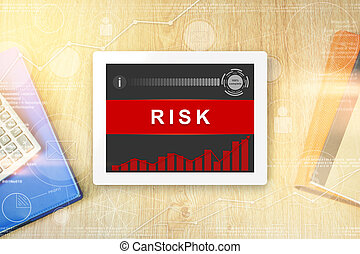 risk word on tablet