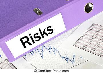 RISKS folder on a market report