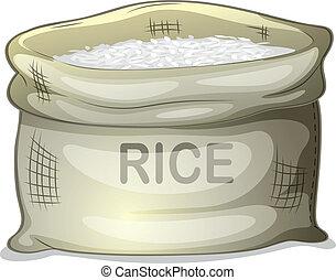 riso bianco, sacco