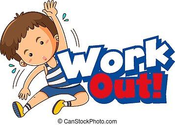 risolvere, parola, capretto, esercizio, disegno, font