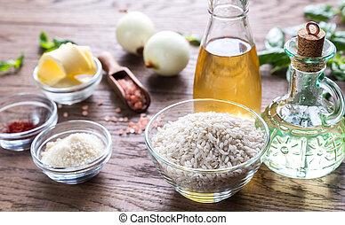 risotto, ingrédients