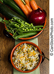 risotto with fresh vegetables