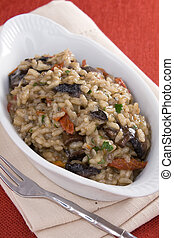 Risotto With Mushrooms and Tomatoes - Creamy risotto with...