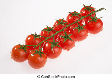 risp tomatoes - Rispentomaten - row of risp tomatoes on...