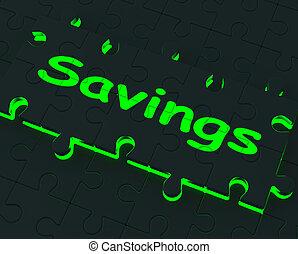 risparmi, puzzle, esposizione, monetario