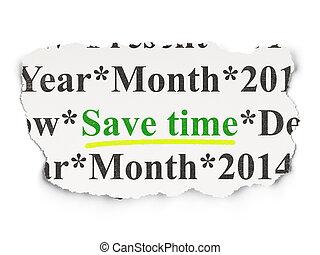 risparmiare, carta, concept:, fondo, tempo