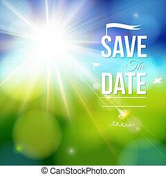 risparmiare, data, holiday., personale