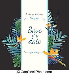 risparmiare, invito, card., date., matrimonio