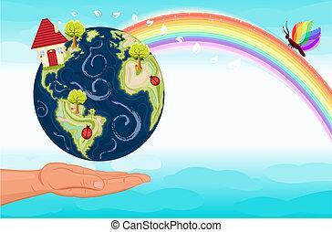 risparmiare, nostro, pianeta verde