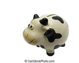 risparmio, mucca