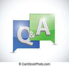 risposta, bolla, messaggio, domanda, illustrazione