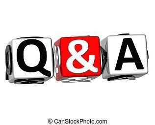 risposta, domanda, &, 3d