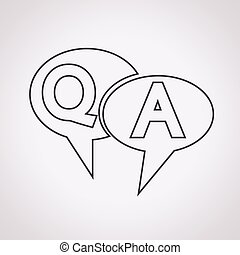 risposta, simbolo, q&a, icona