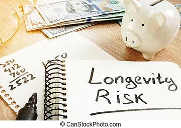 risque, concept., longévité, pension, note., manuscrit
