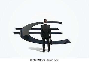 risque financier, concept, homme affaires