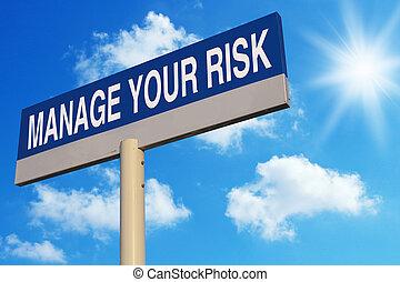 risque, gérer, ton