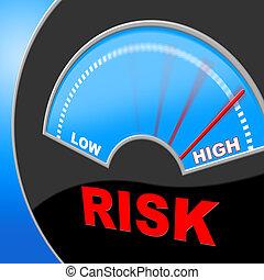 risque, incertain, élevé, indique, obstacle, risqué
