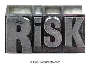 risque, letterpress