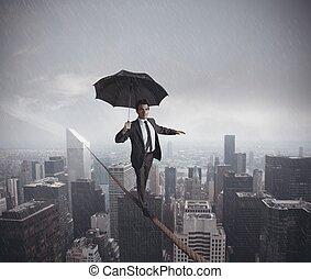 risques, et, défis, de, vie affaires