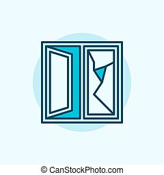 Kaputte fensterglas scheibe ikone begriff kaputte for Fenster 800x800