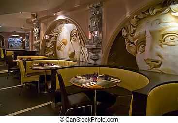 ristorante, classico, stile