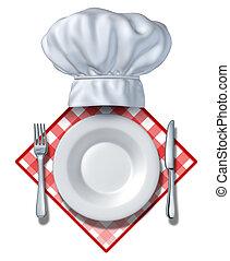 ristorante, disegno, elemento