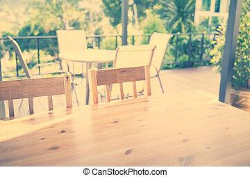 ristorante, effect., vendemmia, immagine, ), legno, trattato, (, filtrato, tavola